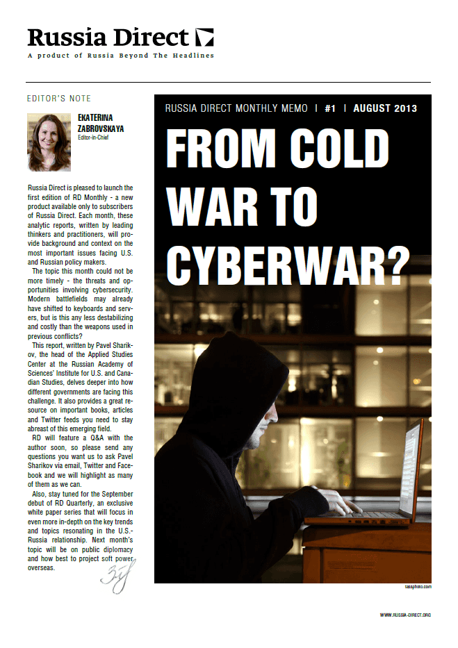 Russia Direct Brief: 'From Cold War to Cyberwar?'