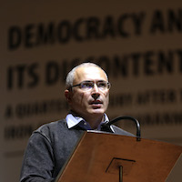 Khodorkovsky continues to bide his time abroad